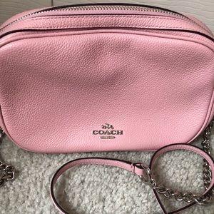 Coach pink leather crossbody